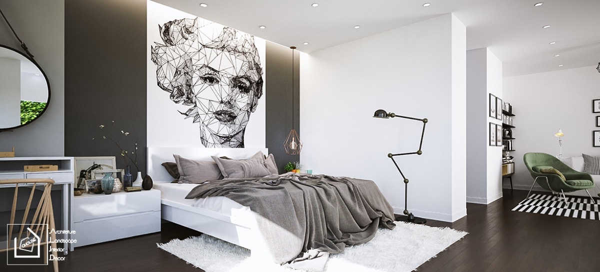 40 beautiful black white bedroom designs - All About Interior Designing