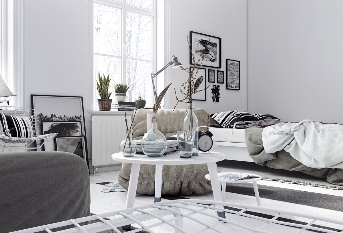 4 Interiors That Harmonise Clutter Using Scandinavian Style
