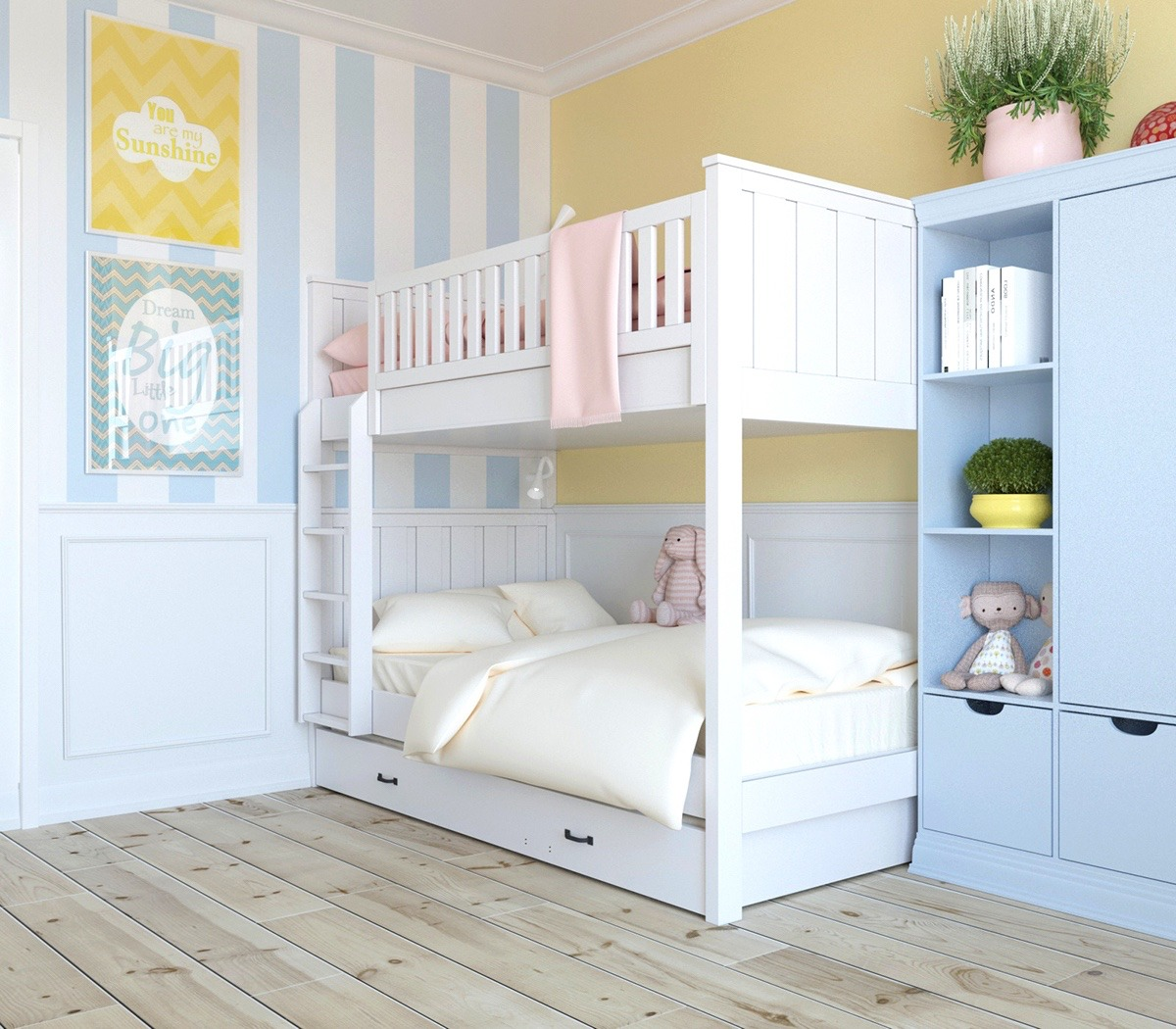 Baby Blue Bedroom: 4 Interiors That Harmonise Clutter Using Scandinavian