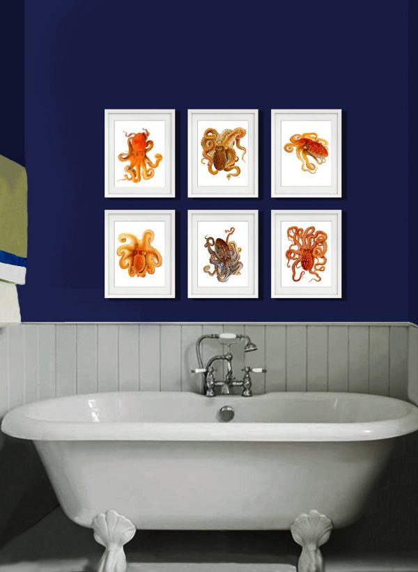 Images Of Bathroom Wall Decor : Interesting and unusual octopus home decor finds the