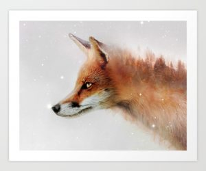 Moonlit Fox: Have a goal you're striving to achieve? Act like this fox – cunning, driven, and heading towards the stars.