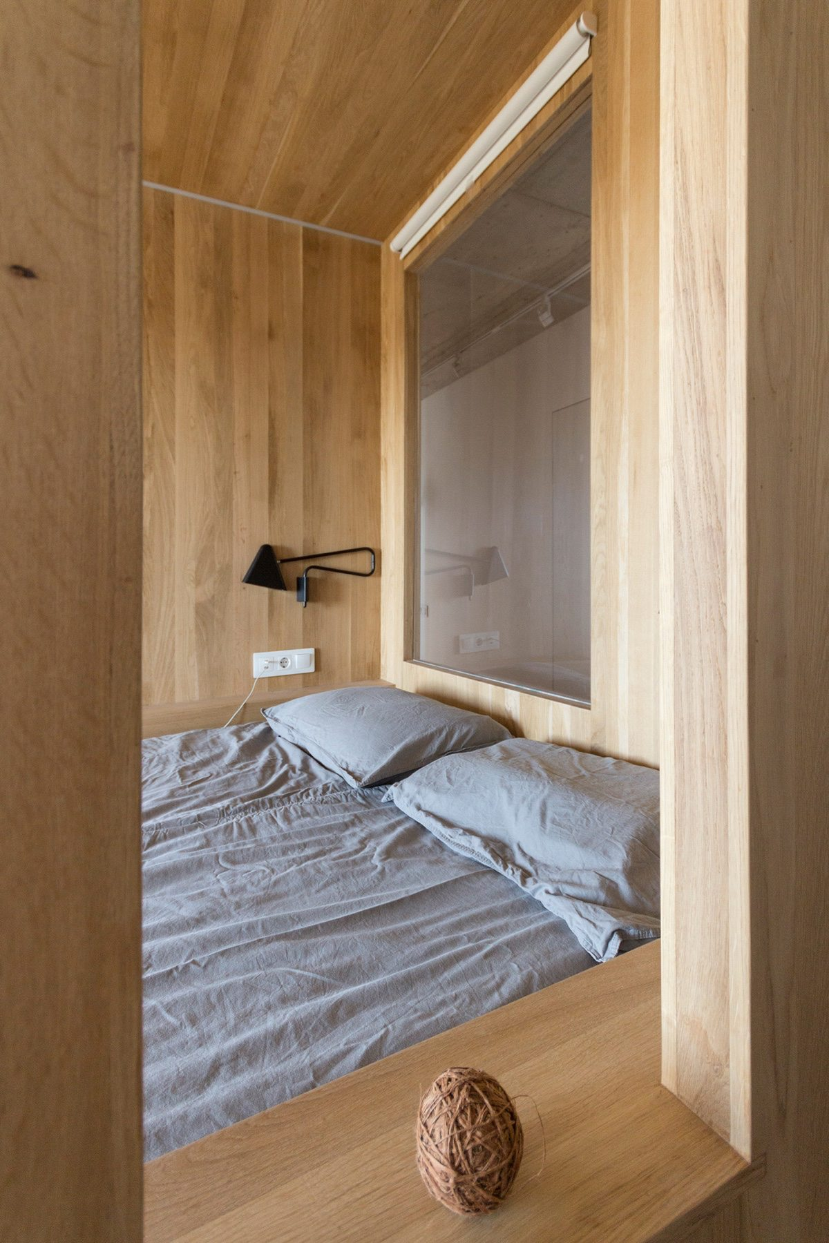 Side View Grey Bedroom Apartments Under Sqm Wooden Open Walls - Super small studio apartment under 50 square meters includes floor plan