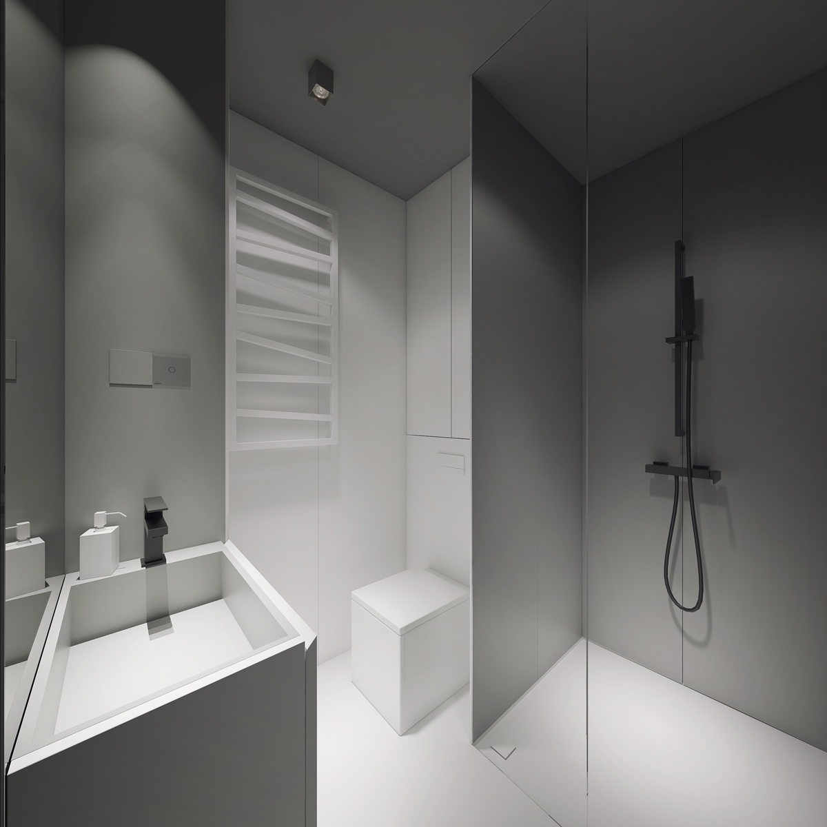 Simple Bathroom: 3 Light, White And Minimalist Homes Inspiring Clarity Of