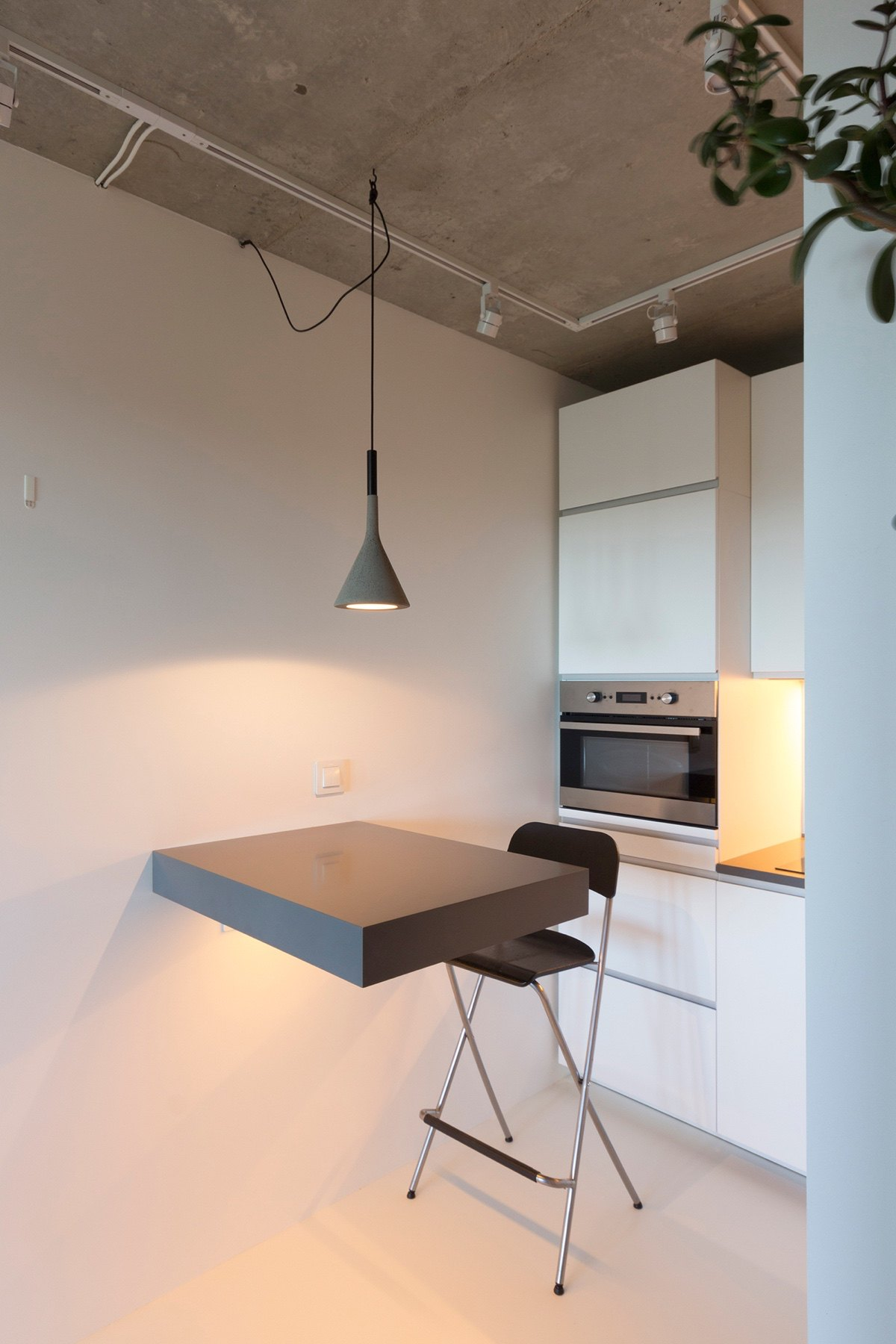 Under Sqm Apartment Kitchen Grey Hanging Light Small Grey Table Ledge Directors High Chair - Super small studio apartment under 50 square meters includes floor plan