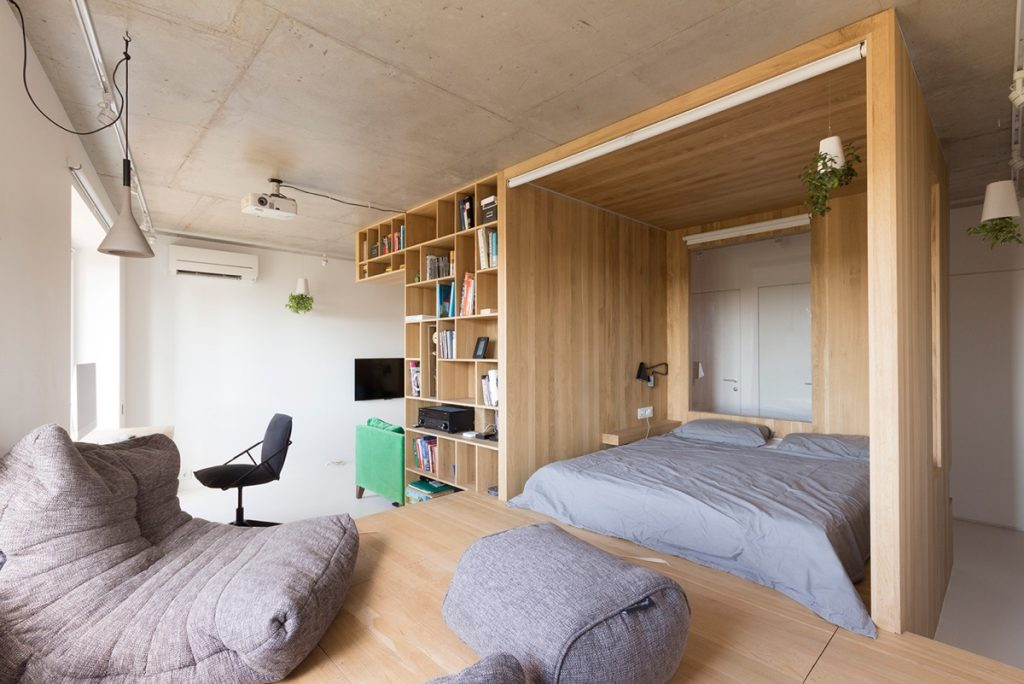 Super Small Studio Apartment Under 50 Square Meters Includes Floor Plan