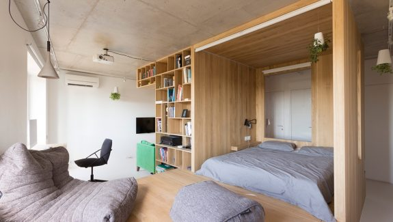 Super Small Studio Apartment Under 50 Square Meters (Includes Floor Plan)