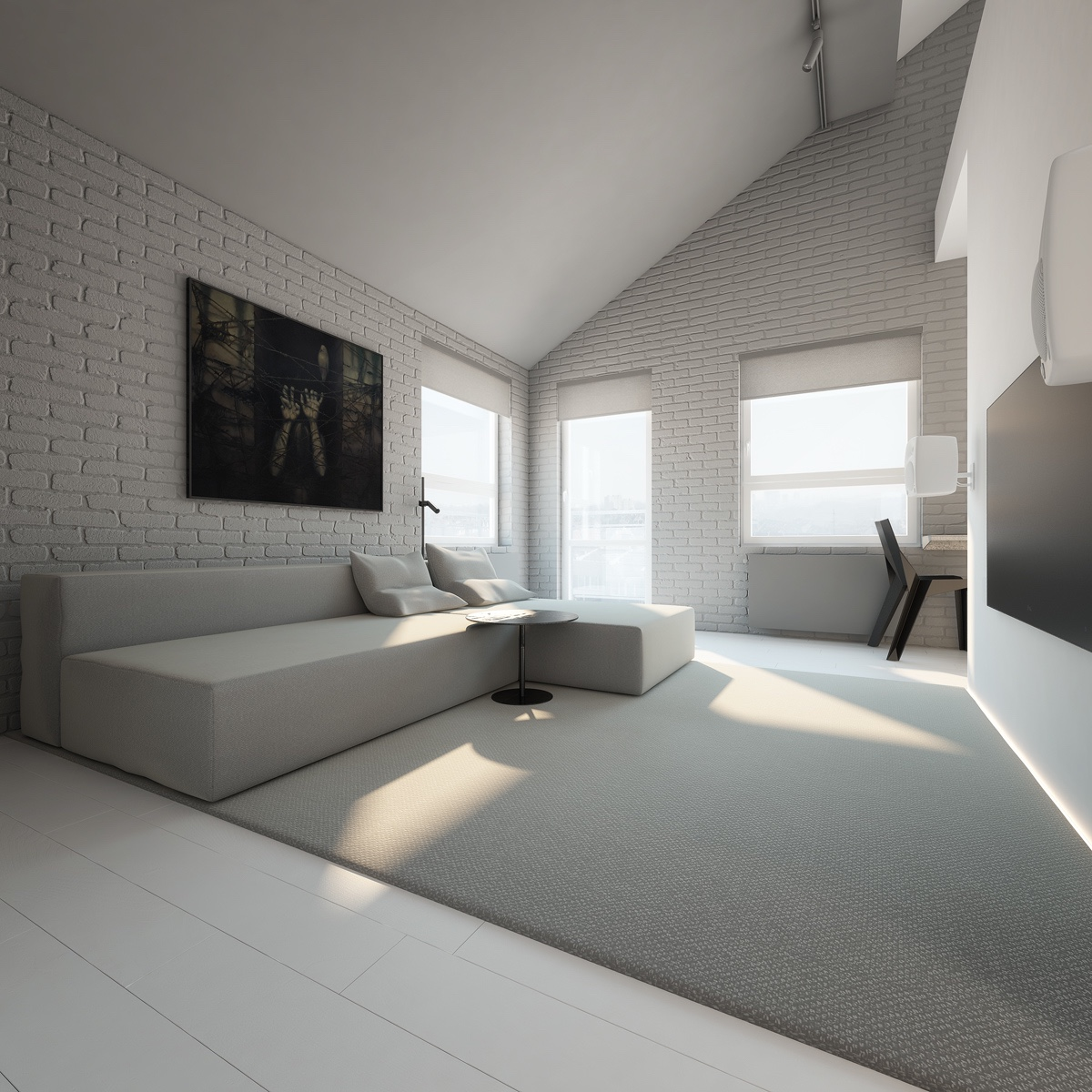 3 light white and minimalist homes inspiring clarity of for Minimalist living bedroom