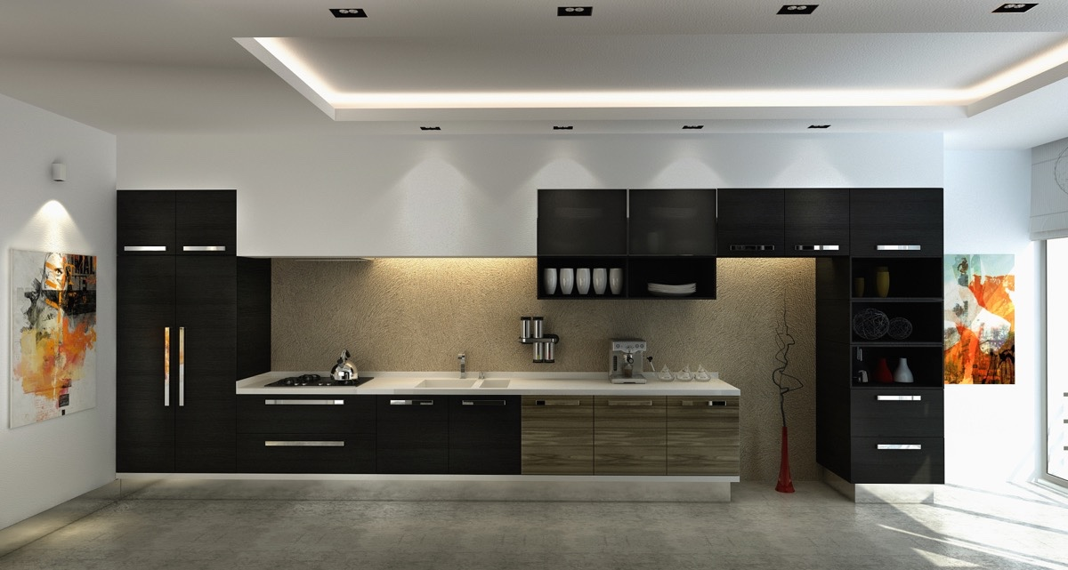 Black Frame Kitchen Lego Block Look - 36 stunning black kitchens that tempt you to go dark for your next remodel
