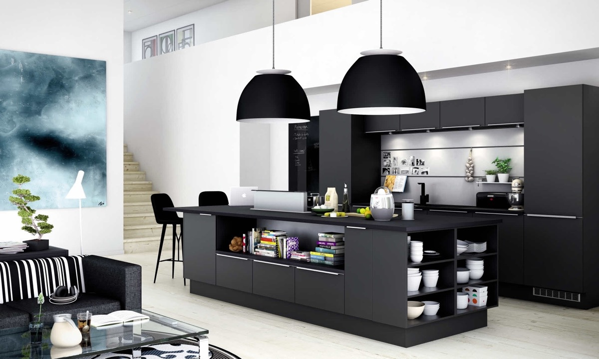 Modern Black Kitchens. 36 Stunning Black Kitchens That Tempt You To Go Dark  For Your