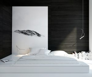 40 Beautiful Black #038; White Bedroom Designs