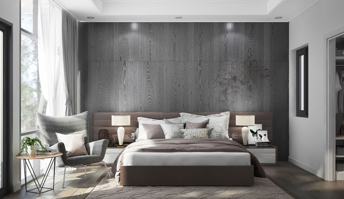 34 - Feature Wall Bedroom