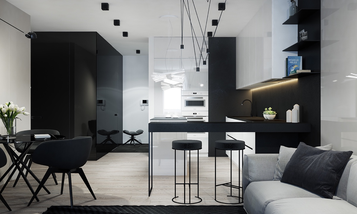 4 Monochrome Minimalist Spaces Creating Black And White Magic