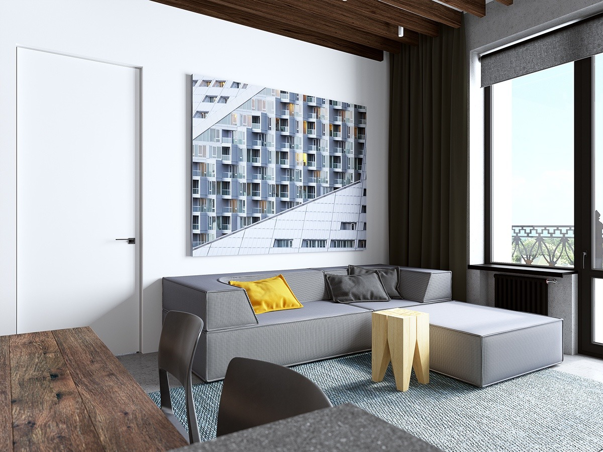 Handsome Small Apartments With Open Concept Layouts