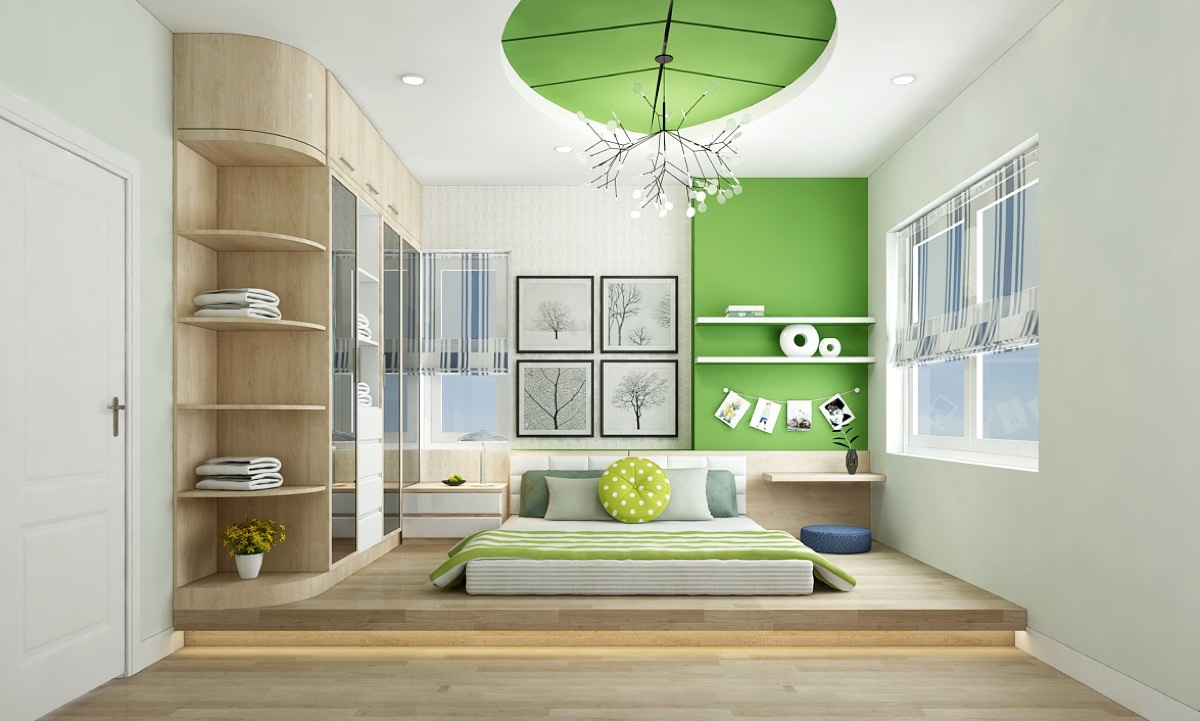 Some bedrooms can gain a sense of spaciousness from a for Bedroom bed designs images