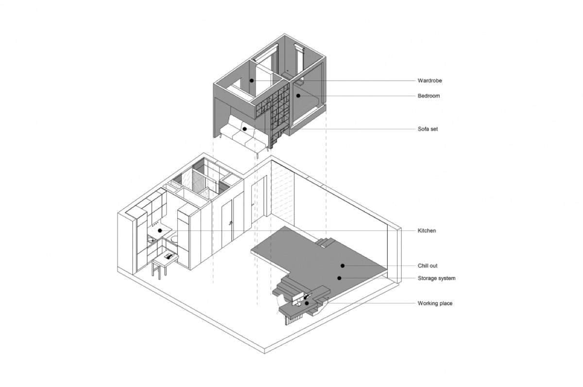 Floor Plan House Under Sqm - Super small studio apartment under 50 square meters includes floor plan
