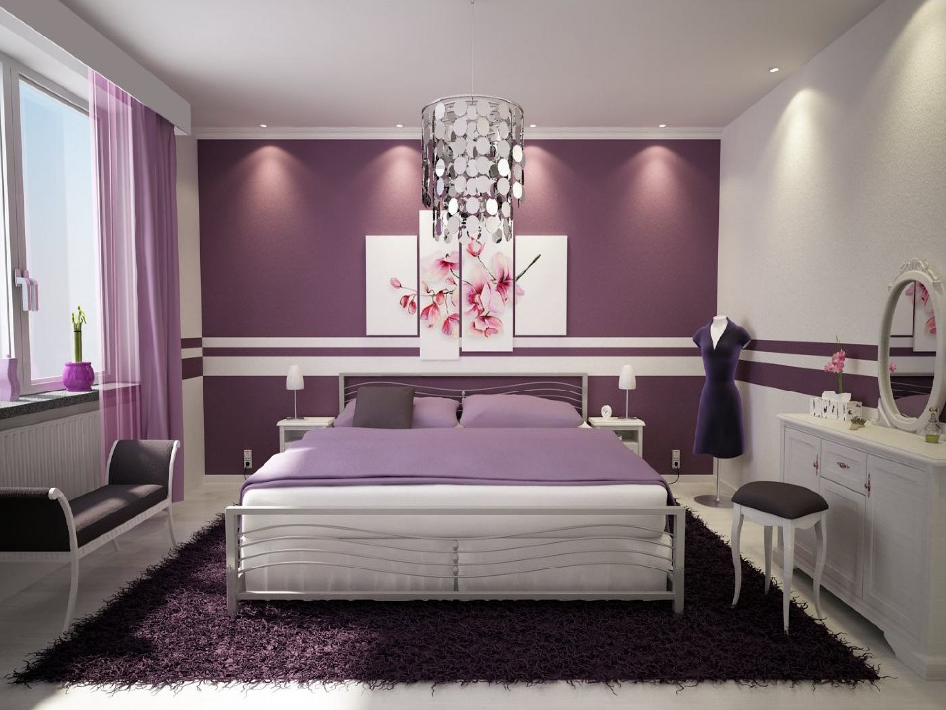 Violet bedroom color ideas - 42 Gorgeous Grey Bedrooms Purple And Gray Bedroom Decorating Ideas