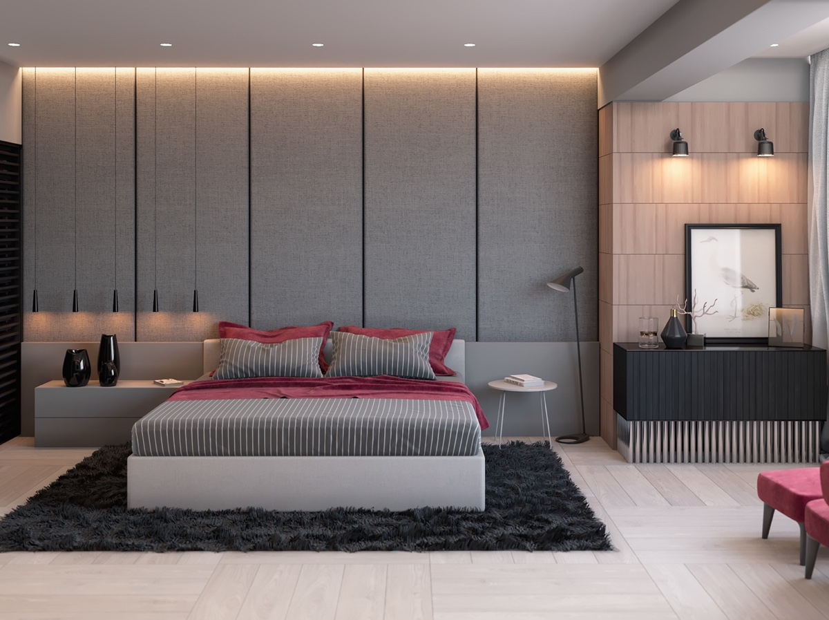42 gorgeous grey bedrooms for Designs bedroom