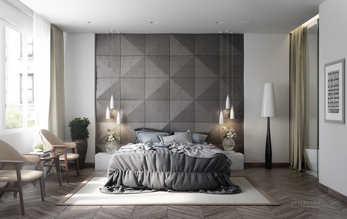 Black and white and grey bedrooms - 7 Visualizer Dattrands