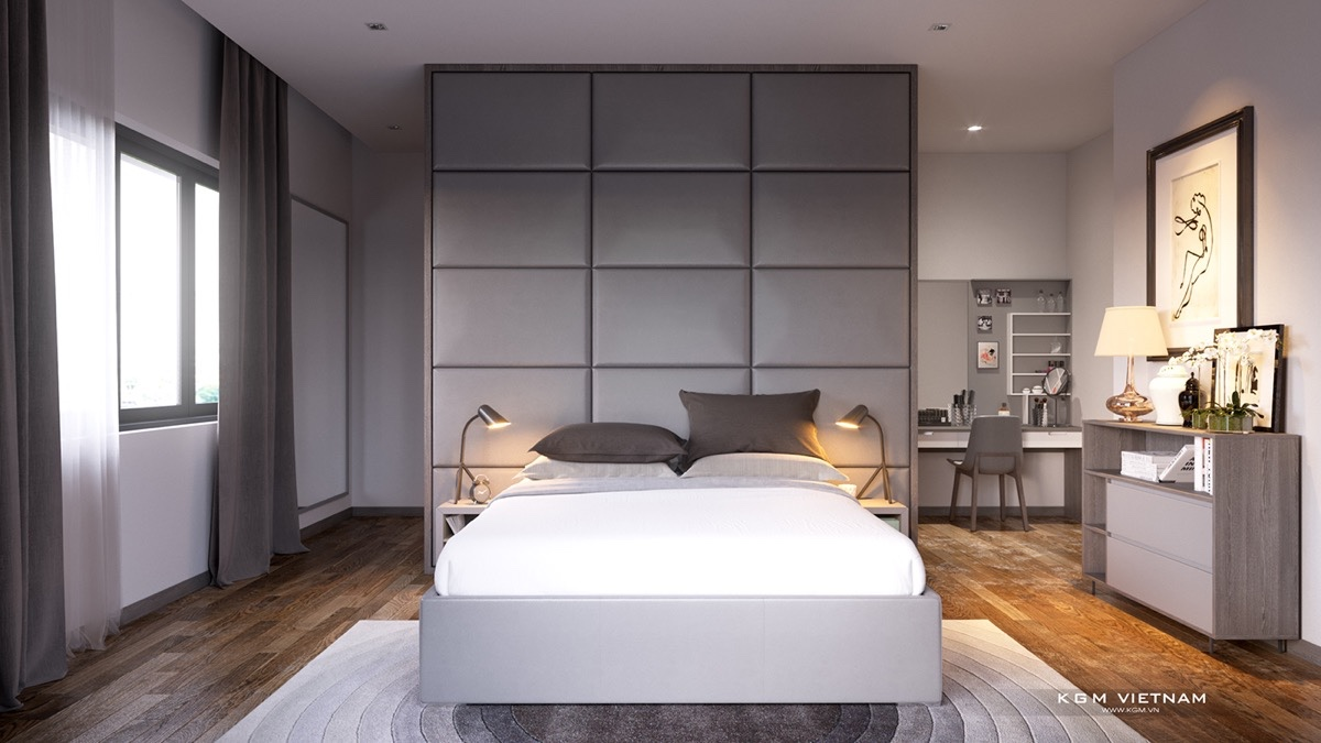 Images of grey bedrooms