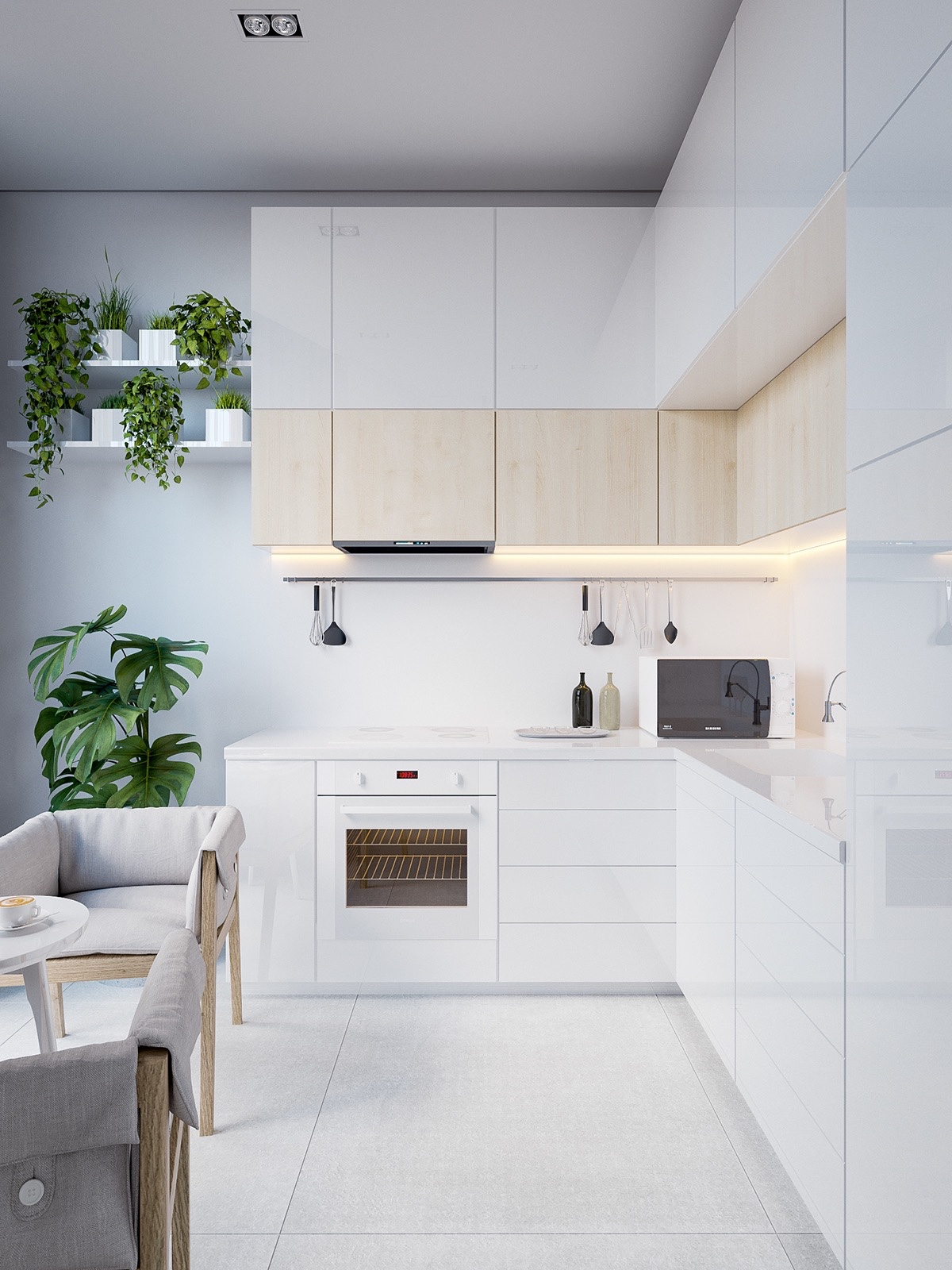 50 modern kitchen designs that use unconventional geometry for Kitchen design visualiser
