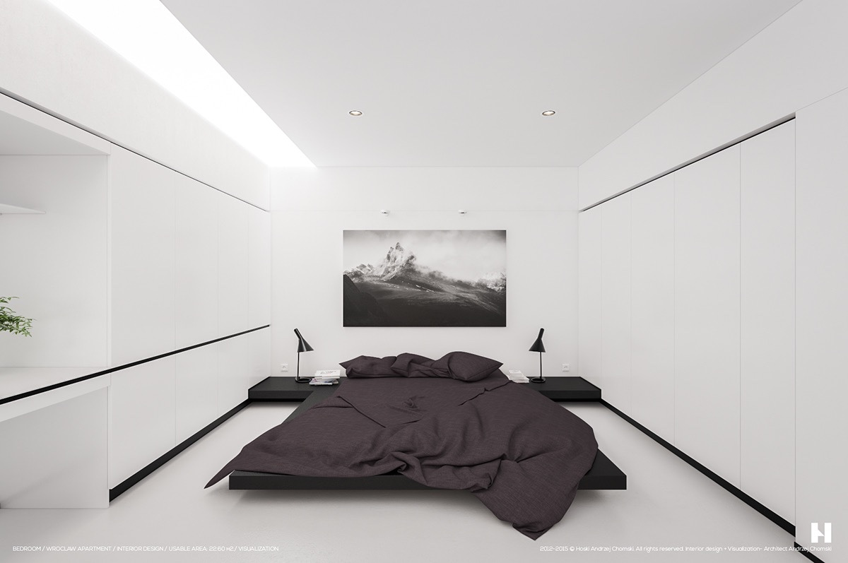 40 Beautiful Black u0026 White Bedroom