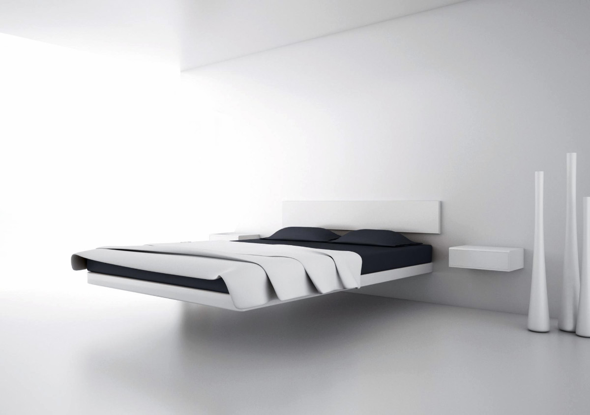 40 beautiful black white bedroom designs for Modern minimalist bedroom furniture