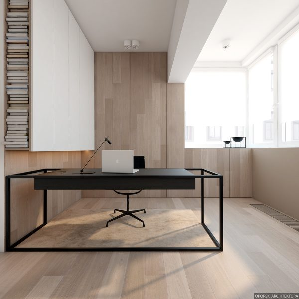 A Minimalistic Office Nearby Gives Residents A Chance To Catch Up On Work  With Very Little Distraction.