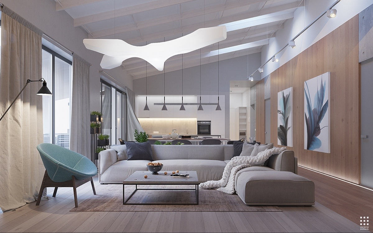 Opening With The Living Room Its Easy To Appreciate Combination Of Flowing Curves And Crisp Edges Linear Shapes Define Primary Seating Area But
