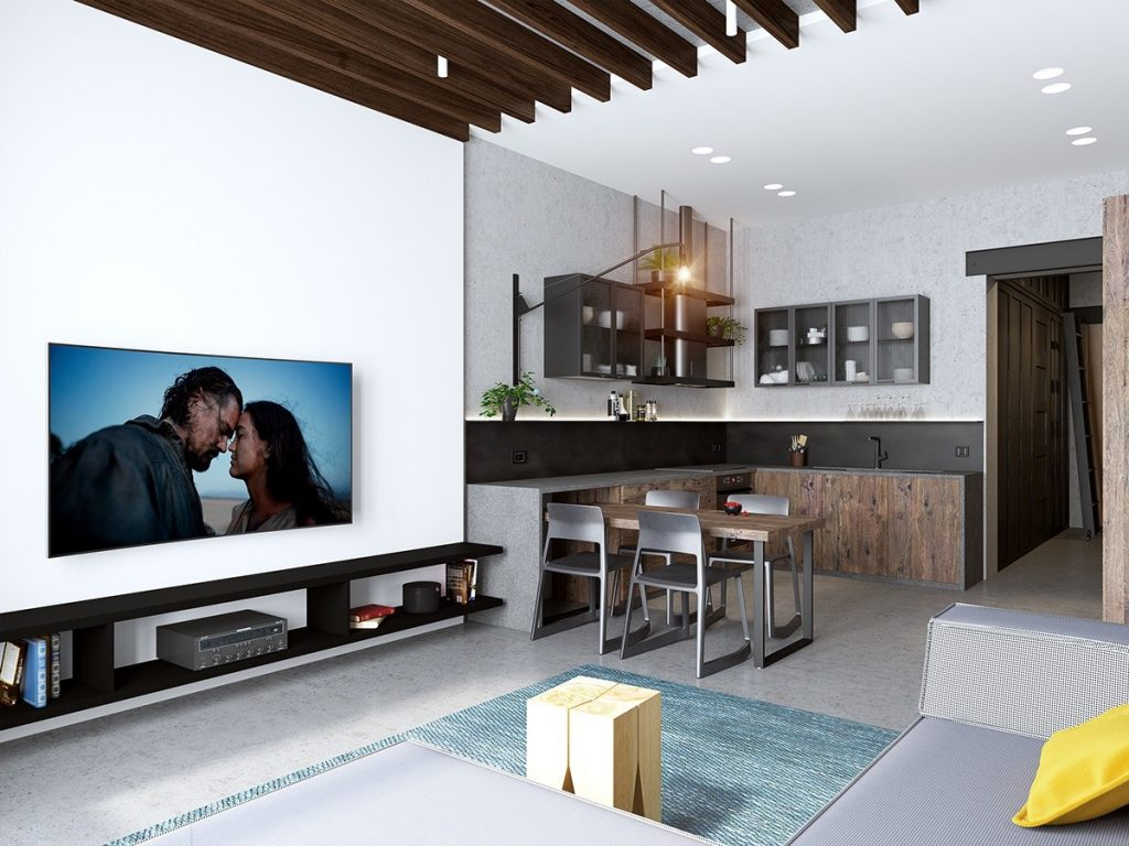 Handsome small apartments with open concept layouts for Apartment design concept