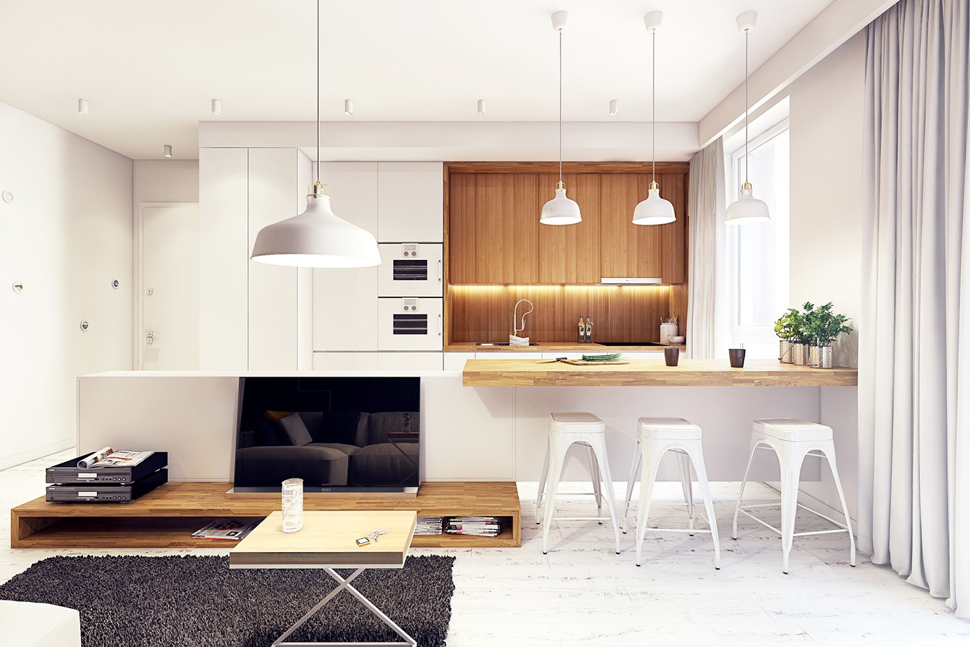 Modern white and wood kitchen designs - Modern White And Wood Kitchen Designs 32