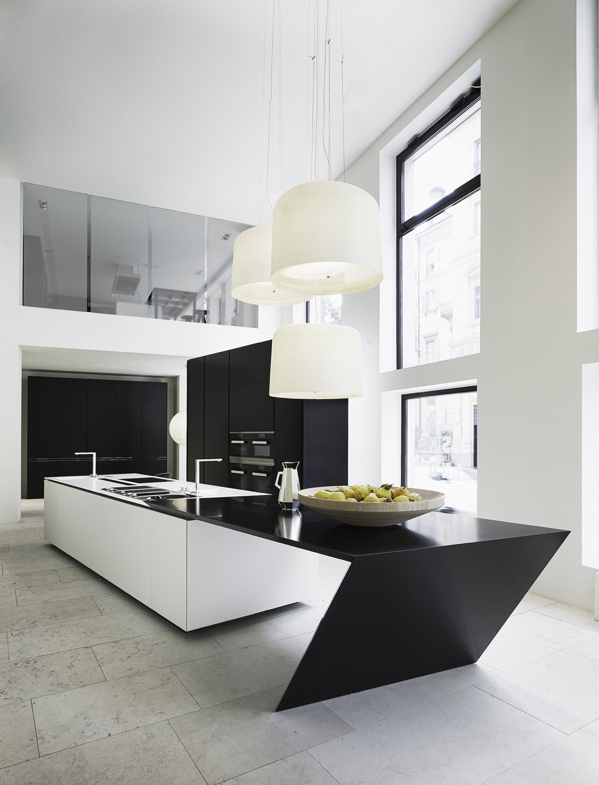 50 modern kitchen designs that use unconventional geometry - Moderne Kchen