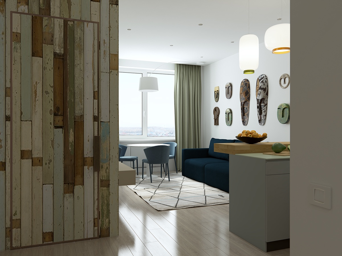 Simple Small Apartment Color Theme Inspiration - Handsome small apartments with open concept layouts