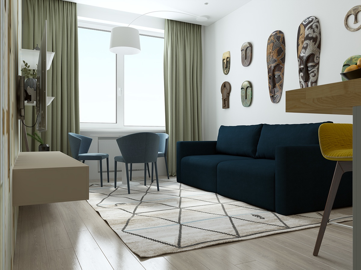 Simple Small Apartment Patterns - Handsome small apartments with open concept layouts