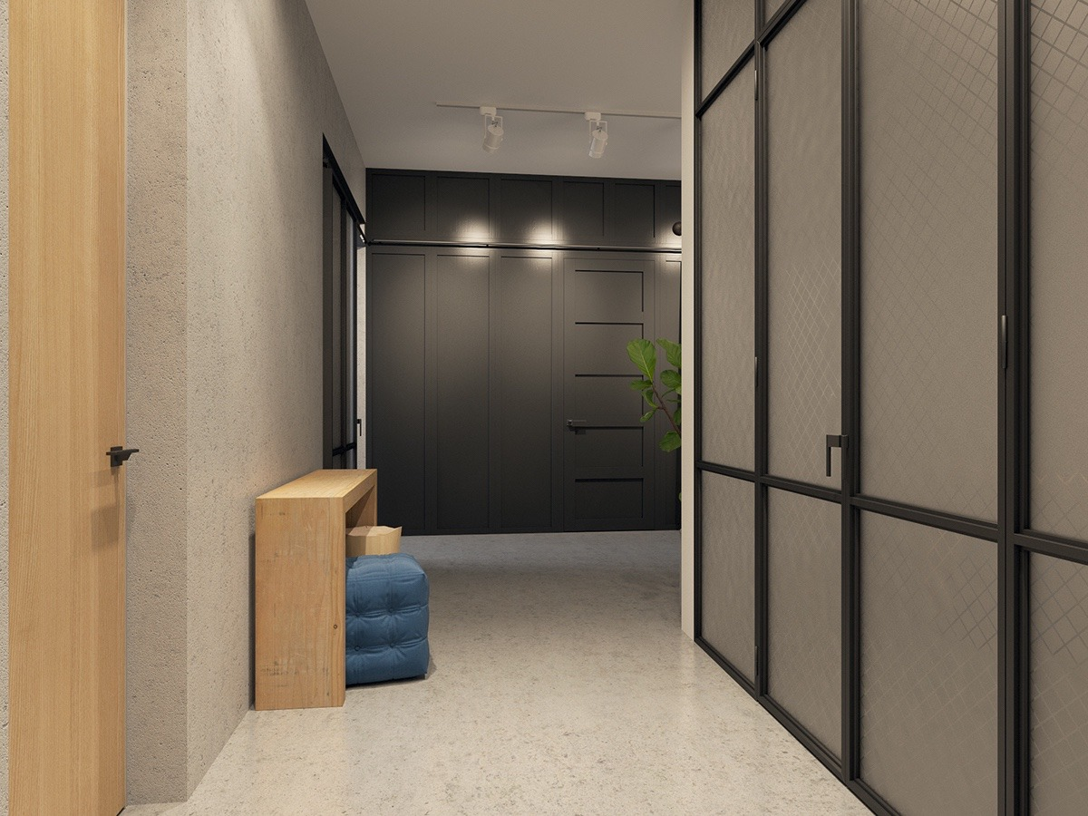 Small Apartment Hallway - Handsome small apartments with open concept layouts