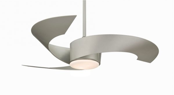 50 unique ceiling fans to really underscore any style you choose for your room graphic world co - Curved blade ceiling fan ...