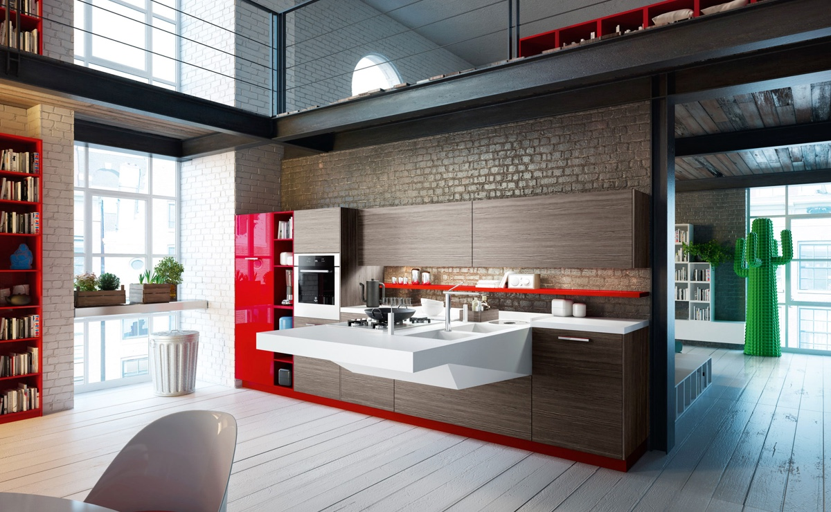 Modern Kitchen Designs That Use Unconventional Geometry