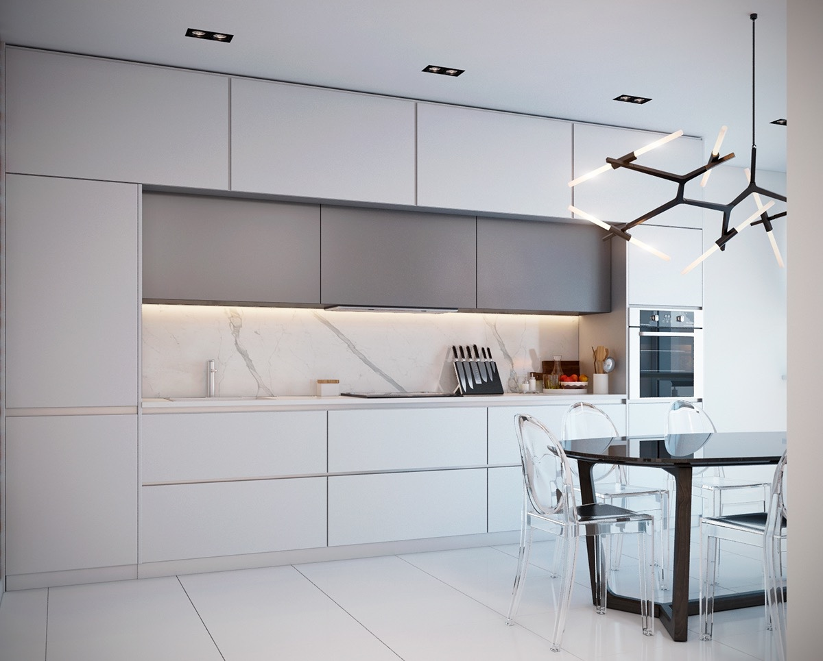 White Kitchen Marble Floor 36 marvellous marble kitchens that spell luxury