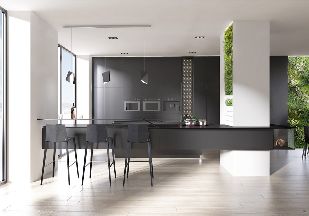 Kitchen Design Black Cabinets 40 beautiful black & white kitchen designs
