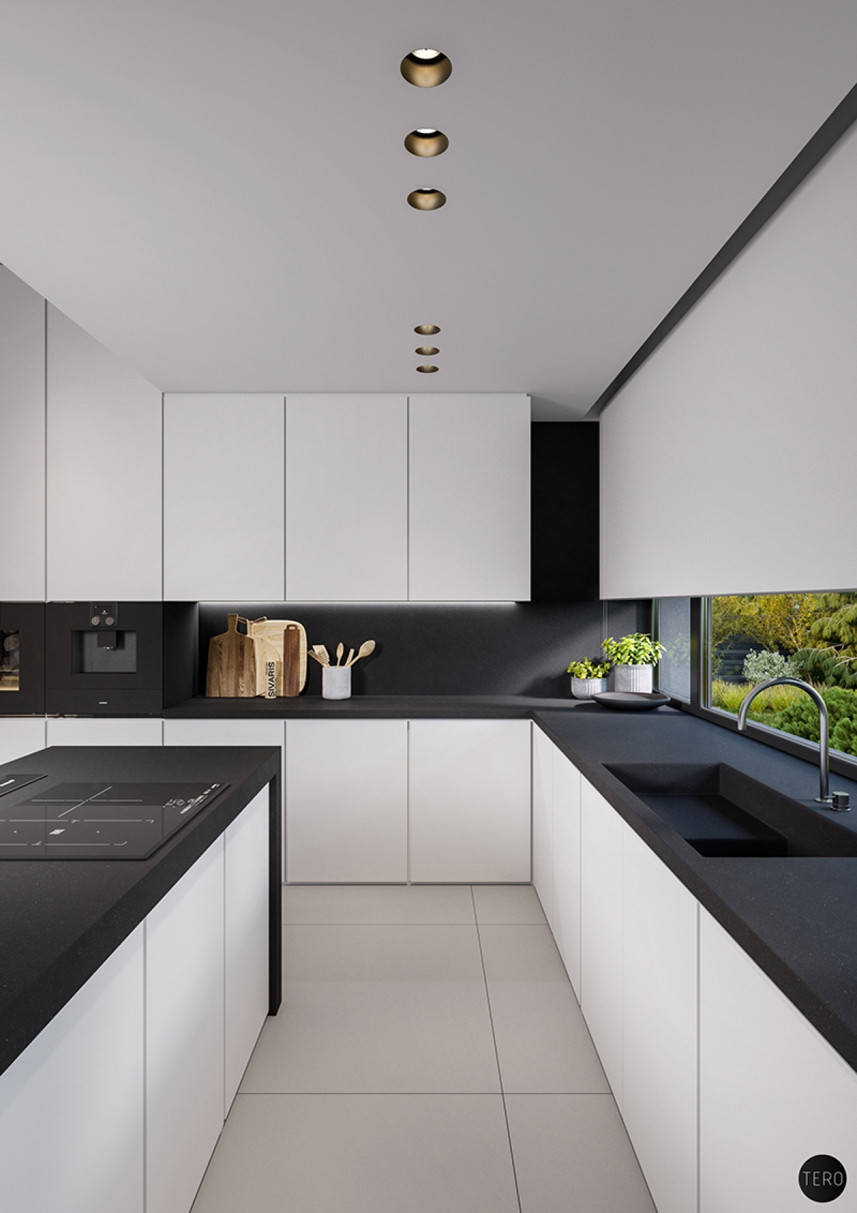 Attractive Black And White Kitchen Ideas Part - 1: Interior Design Ideas