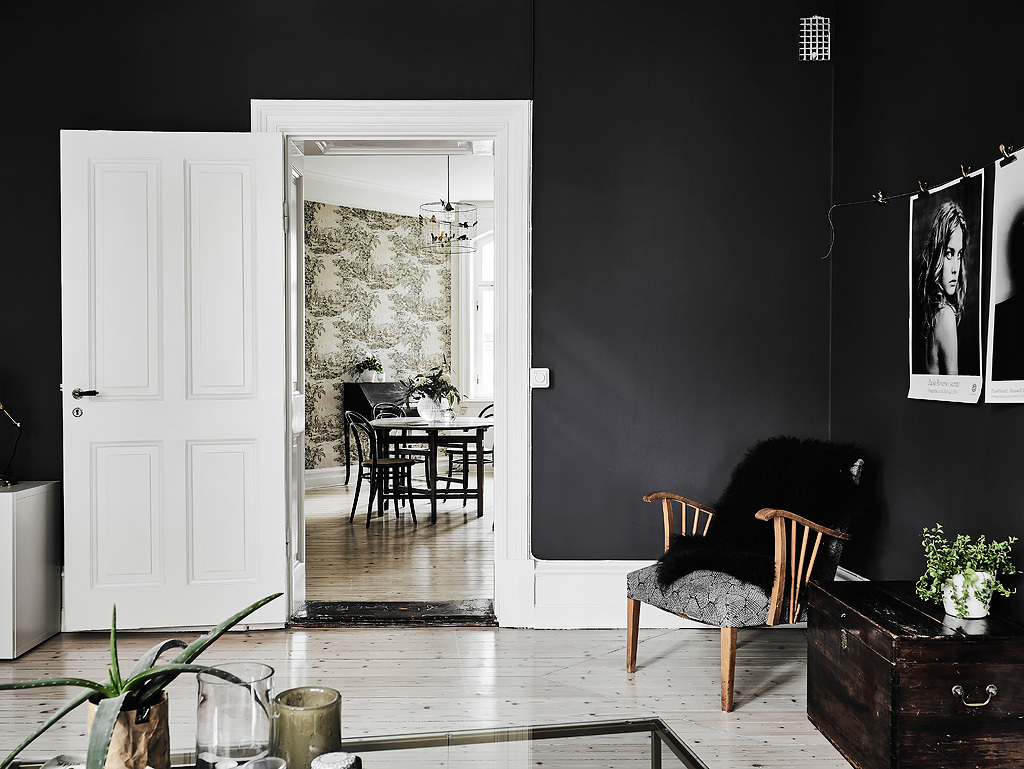 Black & White Scandinavian Interiors That Explore The Dark Side Home . Full resolution‎  portraiture, nominally Width 1024 Height 769 pixels, portraiture with #8A5F41.
