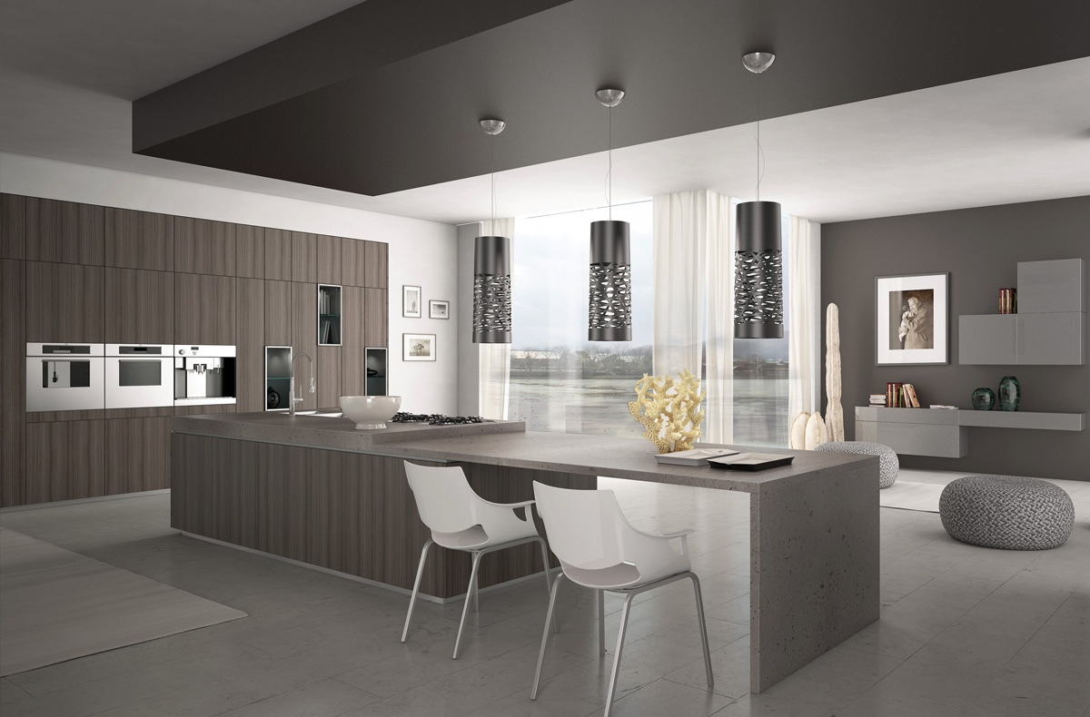 kitchen design grey