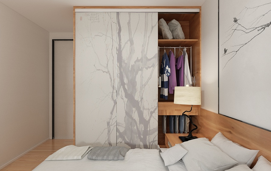 Chinese Bedroom Wardrobe Inspiration - A beautiful 2 bedroom modern chinese house with zen elements includes 3d floor plan