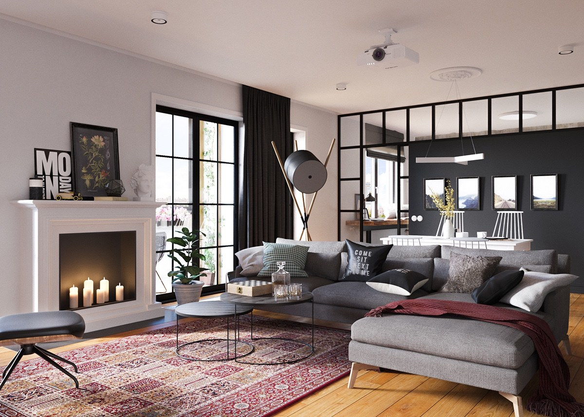 Classic Decor For Small Home - A beautiful one bedroom bachelor apartment under 100 square meters with floor plan