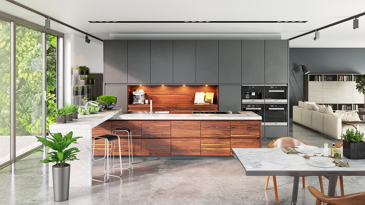 kitchens designs.  40 Gorgeous Grey Kitchens