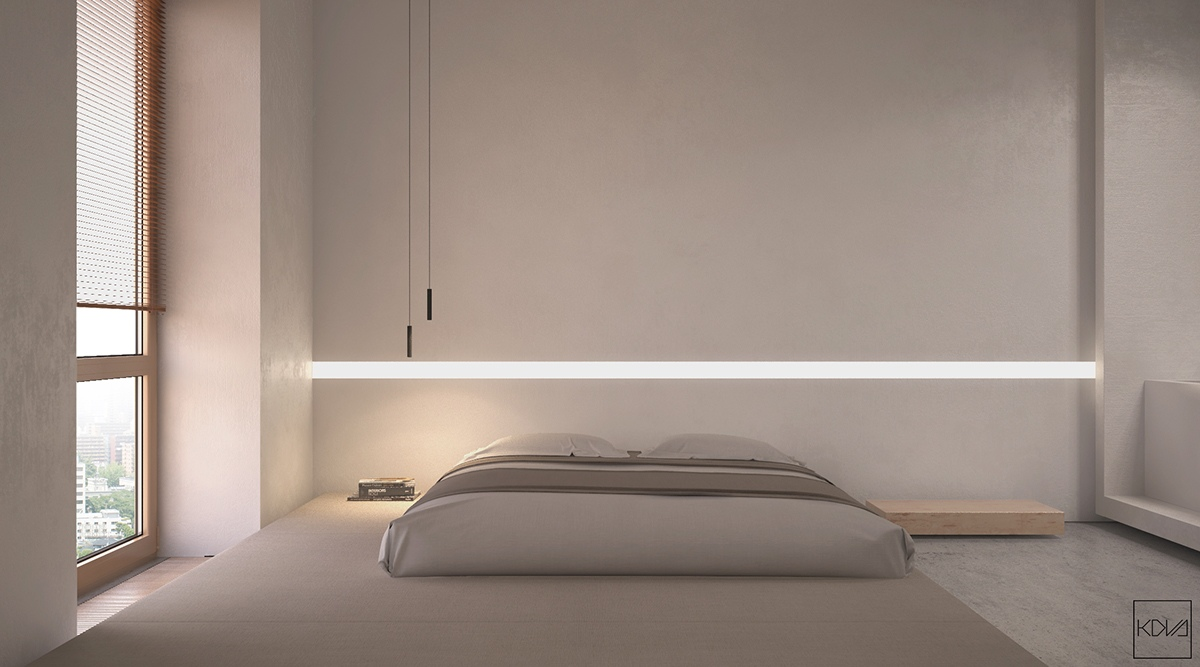 40 serenely minimalist bedrooms to help you embrace simple for Minimalist wall