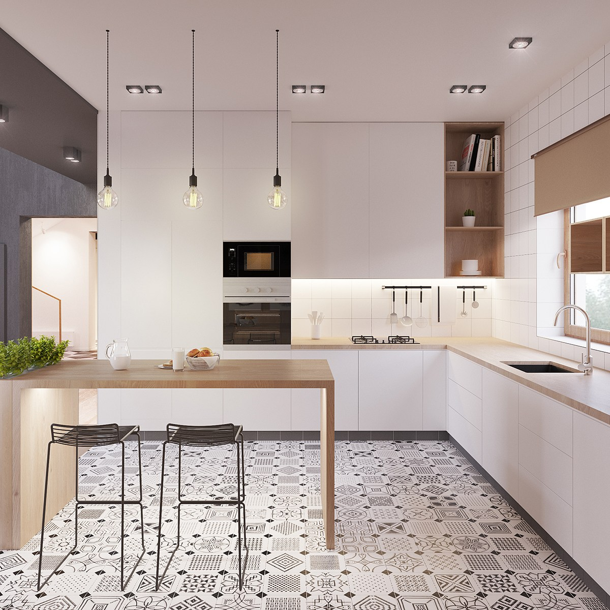 Scandinavian kitchens ideas inspiration for Kitchen floor inspiration