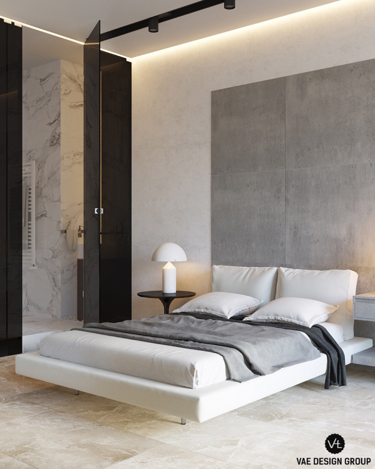 Floating Futon Bed Contemporary Bedroom - 3 small studio apartments that exude luxurious space