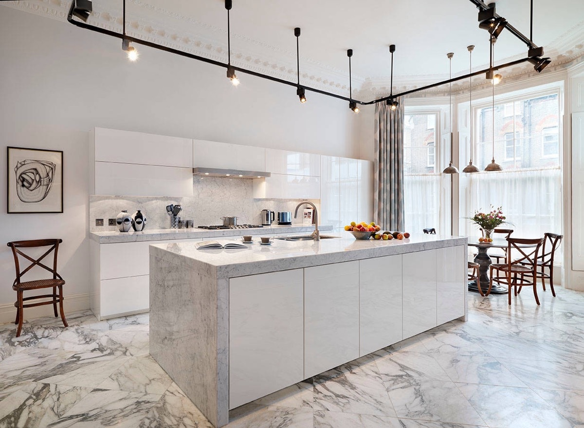 Kitchen Floor Marble 36 marvellous marble kitchens that spell luxury