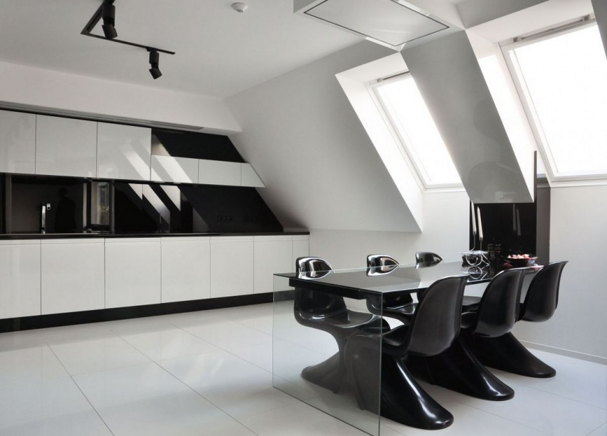 Kitchen Ideas Black And White Part - 45: Interior Design Ideas