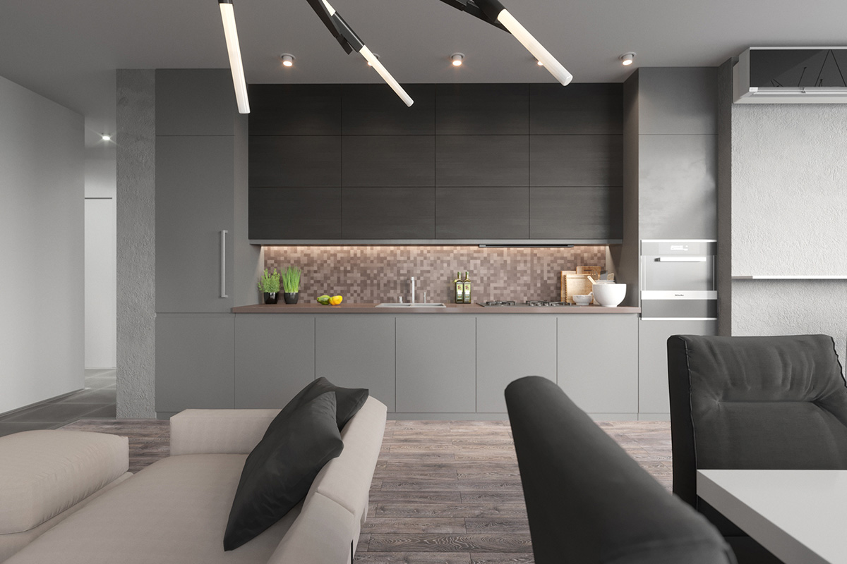 Gorgeous Grey Kitchens - Grey copper kitchen